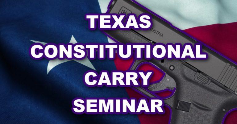 Texas Permitless Carry Seminar